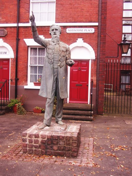 Statue of William Booth at his birthplace