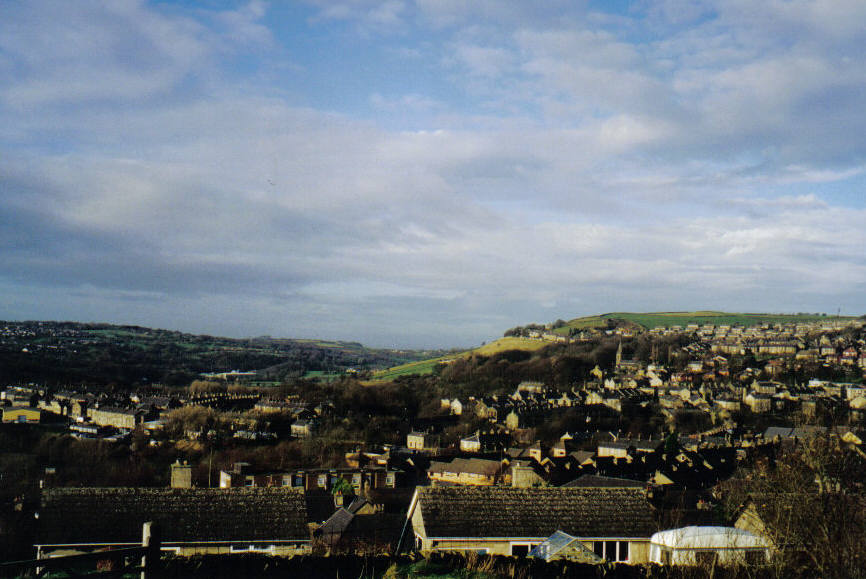 The view west over New Mills